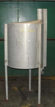 Tank 100 gallon vertical tank, Aluminum, conical bottom