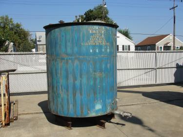 Tank 1110 gallon vertical tank, Stainless Steel, flat