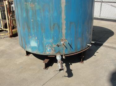 Tank 1110 gallon vertical tank, Stainless Steel, flat bottom