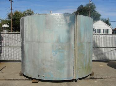 Tank 4180 gallon vertical tank, Stainless Steel, flat