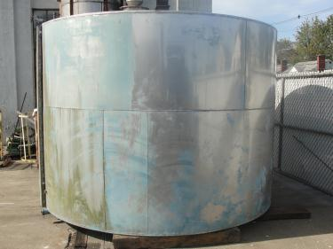 Tank 4180 gallon vertical tank, Stainless Steel, flat bottom