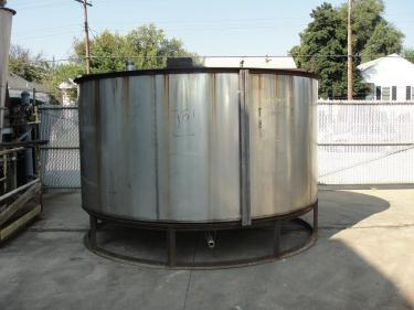 Tank 2985 gallon vertical tank, Stainless Steel, conical
