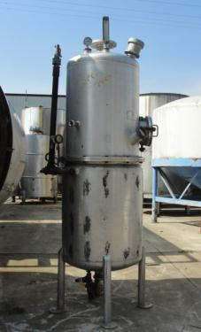 Tank 120 gallon vertical tank, Stainless Steel, 15 PSI @250 degrees F jacket, dish