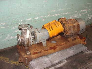 Pump 3x2-7/60 Durco centrifugal pump, 15 hp, 316 SS