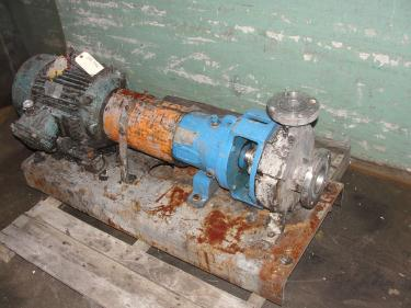 Pump 2K3x2-32/32 Durco centrifugal pump, 15 hp, 316 SS
