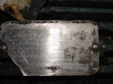 Pump 2K3x2-32/32 Durco centrifugal pump, 15 hp, 316 SS