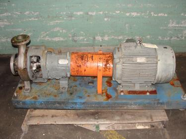 Pump 2K3x2-82/82 Durco centrifugal pump, 15 hp, 316 SS