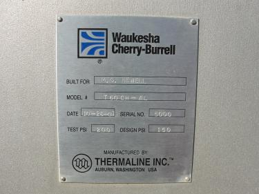 Heat Exchanger 549 sq.ft. Waukesha Cherry Burrell plate heat exchanger, Stainless Steel