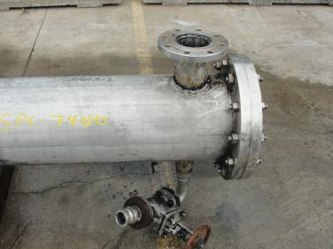 Heat Exchanger 370 sq.ft. Isotherm shell and tube heat exchanger, 100 psi shell, 250 psi internal, Stainless Steel