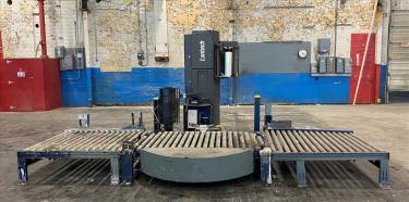 Wrapping machine Lantech stretch wrapping machine model Q Auto, 62 max. wrap height, speed up to 45 Loads/hr.