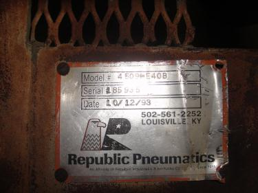 Blower 781 cfm, positive displacement blower Republic Pneumatics, 60 hp