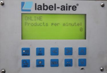Labeler Label-aire pressure sensitive labeler model 5515 LH LBLR W/FAN FLC, wipe on