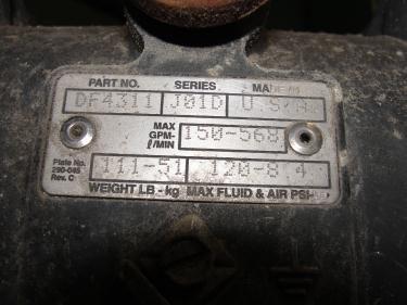 Pump 3 Graco diaphragm pump, Stainless Steel