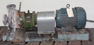 Pump 12 x  43 x  15 GOULDS centrifugal pump, 5 hp, Stainless Steel