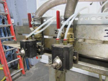 Filler 6 valve ELF liquid gravity filler adjustable from 3.5 to 9 centers