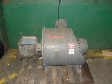 Blower 135 cfm multistage centrifugal blower, Spencer, 7.5 hp