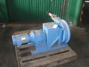 Pump 1 inlet Bredel Delden Holland positive displacement pump model Type SP 32, 1-1/2 hp, CS