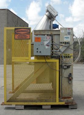 Material Handling Equipment drum dumper, 750 lbs. National Bulk Equipment model SP-DUMPER, 44 x 67 ( OAW x OAL) and 92 OAH.