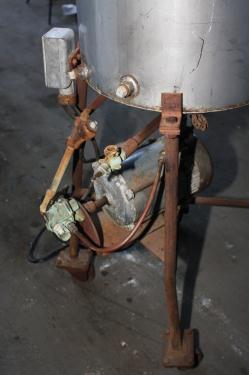 Tank 20 gallon vertical tank, Stainless Steel, flat Bottom