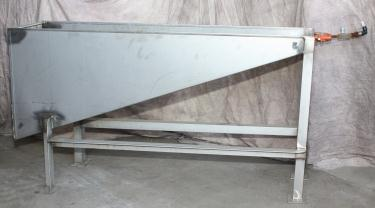 Miscellaneous Equipment feed chute, 14 x 45 x 26, Stainless Steel