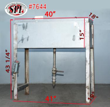 Miscellaneous Equipment bottle dump station Stainless Steel 21 holes, 19 x 41 x 43 1/4.