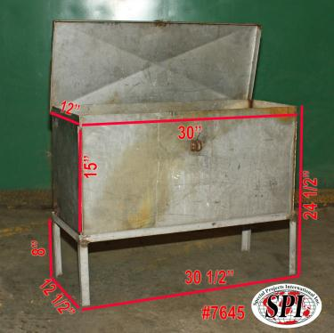 Miscellaneous Equipment chemical storage locker 12W x 30L x 15 D