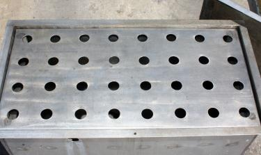 Miscellaneous Equipment bottle dump station Stainless Steel 28 each 1-3/8 diameter holes, 16W x 32L x 15 3/4D
