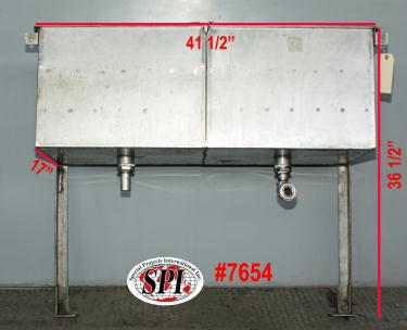 Miscellaneous Equipment bottle dump station Stainless Steel 14 each 1-5/8 diameter holes holes, 17W x 41-½L x 36-1/2H