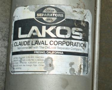 Miscellaneous Equipment Lakos Separator model ILS-0300 316SS Maximum Pressure: 150 psi (10.3 bar), 3 inlet, Stainless Steel