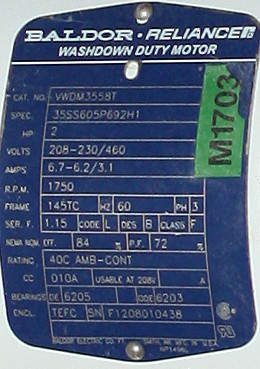 Pump 9 x 3.5 rectangle inlet Waukesha Cherry-Burrell positive displacement pump model 134 UL, 5 hp, Stainless Steel