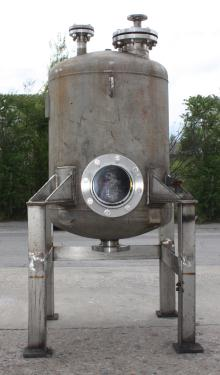 Tank 110 gallon vertical tank, Stainless Steel, dish