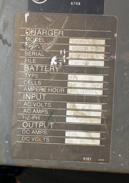 Miscellaneous Equipment battery charger, 36 volts MAC 180 amps
