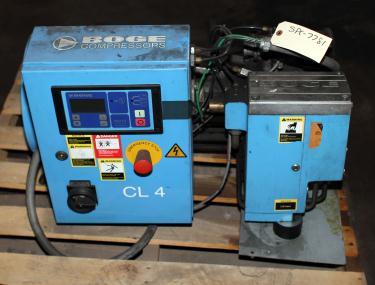 Compressor 4 hp BOGE air compressor model CL 4, 11 cfm