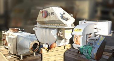 Dryer 11  x 72  Carman Industries fluidized bed dryer model FBP-50