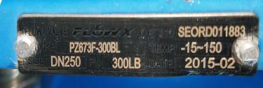 Valve 10 Flowx gate valve, pneumatic operator, Stainless Steel