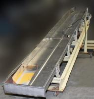 Conveyor Machine and Conveyor Manufacturing, Inc. vibratory conveyor model 24X6, Stainless Steel, 24 wide x 18' long