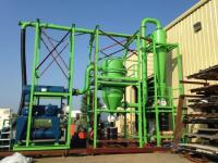 Material Handling Equipment 1382 cfm pneumatic conveyor, 100 hp, was vacuum unloading 8 to 10 mm ceramic pellets.