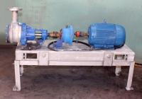 Pump 2 inlet Viking Pumps Inc. positive displacement pump model KK4724, 5 hp, Stainless Steel