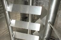Kettle 650 gallon Sani Fab processor kettle, agitator 2 speed side scrape, 75 psi jacket rating, Stainless Steel