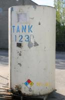 Tank 500 gallon vertical tank, CS, flat Bottom