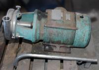 Pump 2x1.5x6.25 centrifugal pump, 5 hp, Stainless Steel Contact Parts