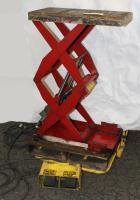 Material Handling Equipment scissor lift table, 500 lbs. Southworth model  Appears to be a model LS05-30, 12 x 24 platform