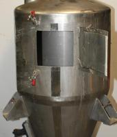 Bin Hopper Silo 10.42 cu.ft., bulk storage bin, Stainless Steel