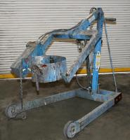 Material Handling Equipment drum dumper, 800 lbs. Morse model 400AM-72-114, 72