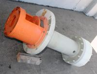 Pump 65x40x280 mm Munsch Chemie-Pumpen vertical centrifugal pump model TNP-KL 65 40-250, Polypropylene