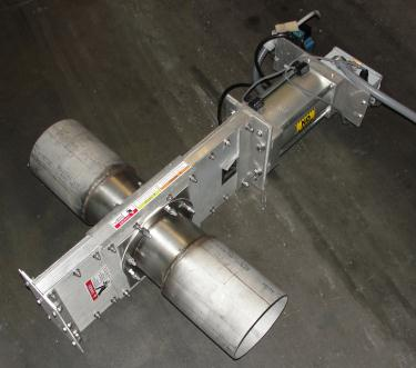 Valve I450X 6 ½ Salina Vortex Corp gate valve, pneumatic, Stainless Steel Contact Parts