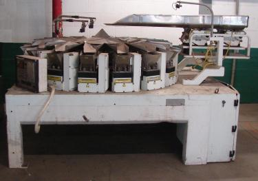 Scale 16 bucket Woodman multihead combination weigher model Commander 16, Stainless Steel Contact Parts