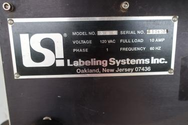 Labeler LSI Labeling Systems pressure sensitive labeler model 306, tamp on