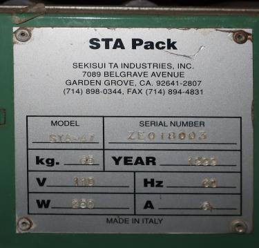 Case Sealer STA Pack case taper model STA-47, speed 90 PER MIN