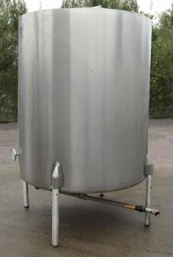 Tank 550 gallon vertical tank, Stainless Steel, bottom only jacket, dish bottom